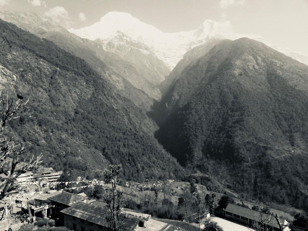 チョモロンの村の風景。いい景色だ。